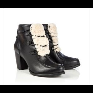 UGG Analise Exposed Fur dress boots